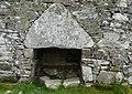 Doorway at Dun Dornaigil broch (Detail) - geograph.org.uk - 970474.jpg