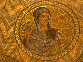 Jael - Mosaic at the Dormition Church in Jerusalem