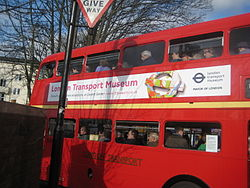 Double Decker Bus Returning to Museum Depot - London Transport Museum Open Weekend March 2012 (6971238889).jpg