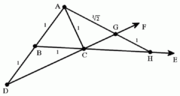 An illustration of the ruler-and-compass method