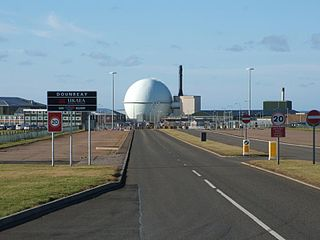 Dounreay nuclear power station in Highland, Scotland, UK