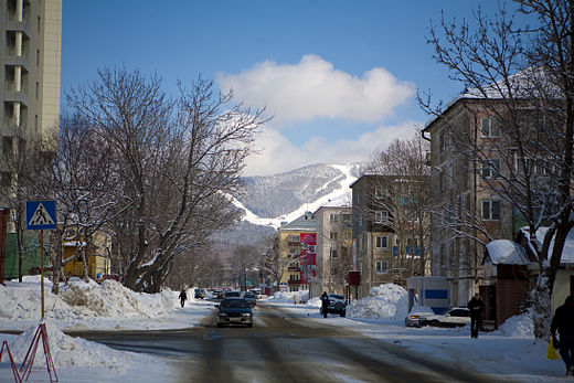 Central part of Yuzhno-Sakhalinsk, 2009 Downtown Yuzhno.jpg