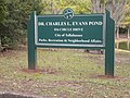 Dr. Charles L. Evans Pond sign.jpg
