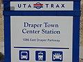 Draper Town Center street sign, Jan 15.jpg