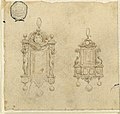 Drawing, Design for Two Pendants with Caryatides and Dolphins, 16th century (CH 18128691).jpg