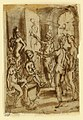 Drawing, Page of a sketchbook; Zeuxis painting Helen, ca. 1590 (CH 18117835).jpg