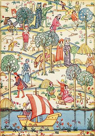 Lois Lenski - One of Lenski's illustrations for the 1922 John Lane edition of Kenneth Grahame's Dream Days.