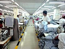 Dress Shirt production Line allocation in a RMG factory of Bangladesh.JPG
