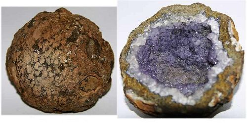 how to break open a large geode