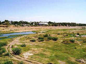Karur district - Part of the Amaravathy river basin near Karur