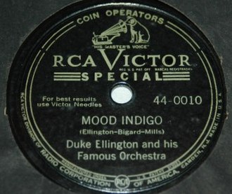 "Mood Indigo - ""Mood Indigo"" disc by Duke Ellington"