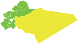 Map of Douma District within Rif Dimashq Governorate