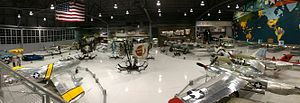 EAA Aviation Museum - Panorama shot of the Eagle Hangar.