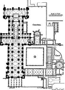 EB 1911 Plan of Durham Cathedral.png