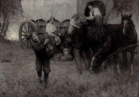 EF Ward Wagon Scene 1921