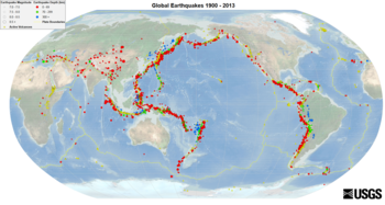 Cinturón de Fuego del Pacífico. Terremotos Globales (1900-2013) 6f432fea8835