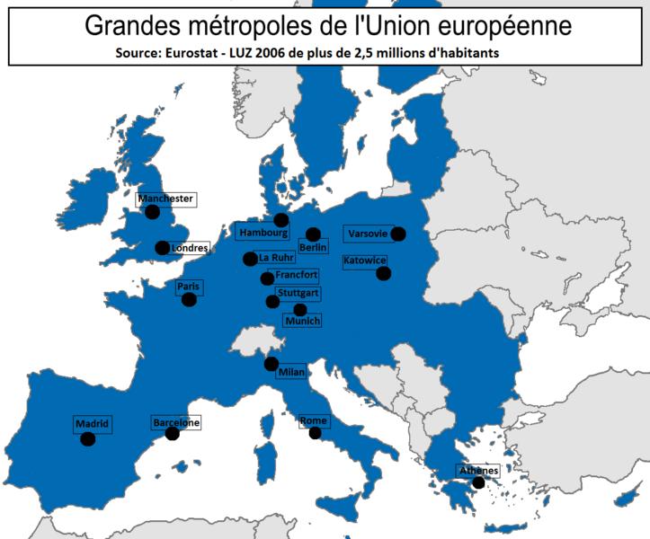 Les Dix Principales Villes De France Placer Sur Une Carte