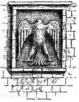 "Eagle of Saladin - Sketch of the original ""eagle of Saladin"" of the Cairo Citadel, Cairo, Egypt"