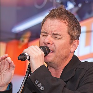 Tony Mortimer - Mortimer performing with East 17 during a promotional tour in Cologne, Germany in 2012.