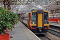 East Midlands Trains Class 158, 158774, platform 4, Crewe railway station (geograph 4524688).jpg