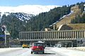 East entrance of the Eisenhower Tunnel on Interstate 70 west of Denver, Colorado.jpg