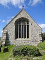 East window of St Cristiolus Llangristiolus.jpg