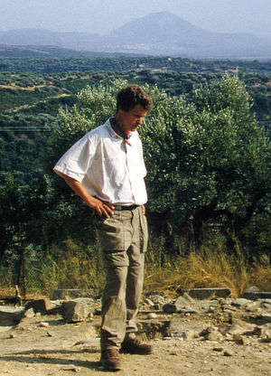 Eberhard Zangger - Eberhard Zangger during fieldwork at the Palace of Nestor in Pylos, Greece, in 1998.