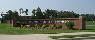 Elizabeth City State University - Image: Ecsusign