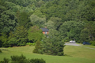 Edgewood, 1858 (Amherst, Virginia) - Distant view of the house