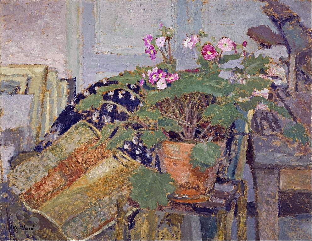 """""""Le pot de fleurs"""" (1900) d'Édouard Vuillard à la National Gallery of Scotland."""