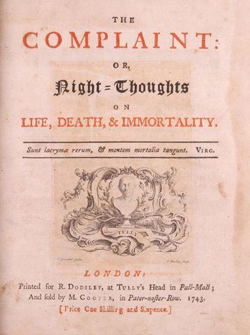 Первое издание «Ночных размышлений». Лондон, 1743