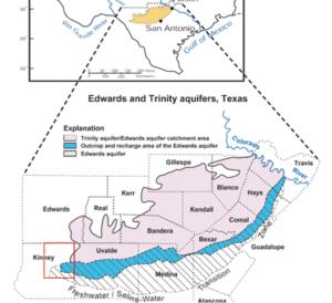 Edwards Aquifer - Edwards and Trinity Aquifers Map