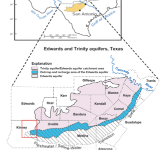 Edwards Aquifer - Edwards and Trinity Aquifers Map