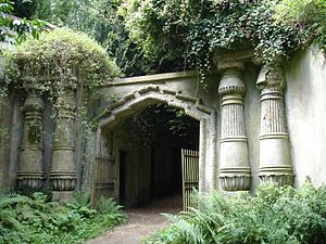 Clegg (film) - The entrance to the Egyptian Avenue, West Highgate Cemetery is shown in the film