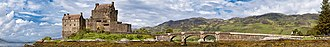 Capture of Eilean Donan Castle - Panorama of the restored castle and Loch Duich