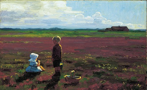 Einar Hein - Children picking berries on the moor - Google Art Project