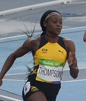 Athletics at the 2016 Summer Olympics – Women's 200 metres - Image: Elaine Thompson 200m Rio 2016