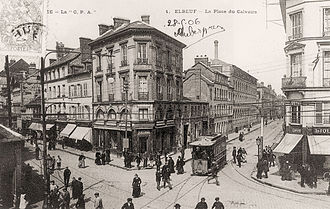 Elbeuf - Place du Calvaire and the Tramway around 1900