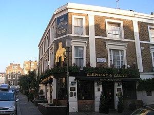 Holland Street, Kensington - The Elephant and Castle public house on Holland Street