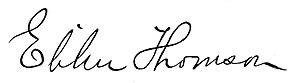 Elihu Thomson - Image: Elihu Thomson signature