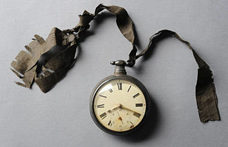 Elisha Mitchell -  Watch belonging to Elisha Mitchell, which broke during his fatal fall and shows his exact time of death. North Carolina Collection, Wilson Special Collections Library, University of North Carolina at Chapel Hill, 2012