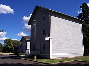 Lebanon, Oregon - The Elkins Flour Mill listed on the National Register of Historic Places