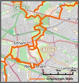 Eltham - Green Chain Walks in and through Eltham