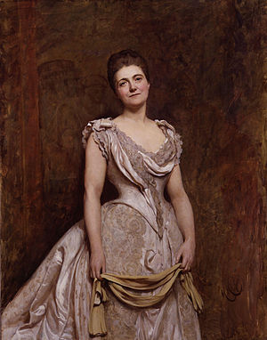 Emilia Dilke - An 1887 portrait of Lady Dilke by Hubert von Herkomer