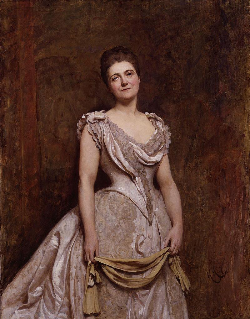 Эмилия Фрэнсис (урожденная Стронг), леди Дилке сэра Хуберта фон Херкомера. Jpg