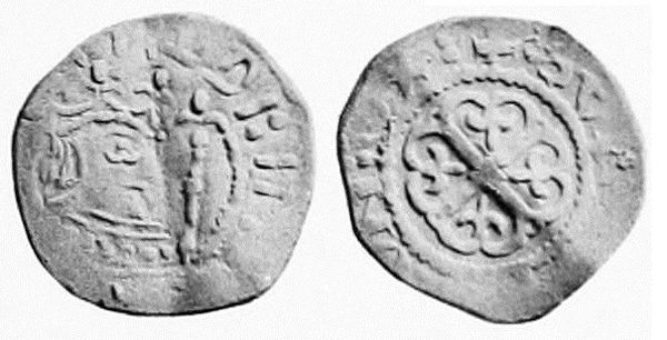 A Matilda silver penny, minted in Oxford Empress Matilda silver penny from the Oxford Mint.jpg