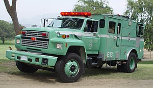 Wildland fire engine - Type 3 Angeles National Forest Engine ANF 13