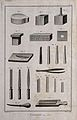 Engraving tools, punches, files, an anvil etc., for cutting Wellcome V0023759ER.jpg