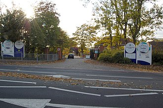 Nonsuch High School for Girls - Image: Entrance to Nonsuch High School for Girls geograph.org.uk 1014589