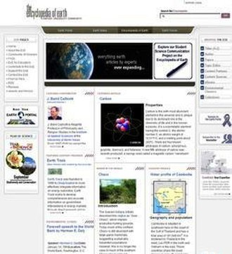 Encyclopedia of Earth - Detail of the Encyclopedia of Earth main page